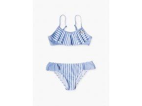 Dívčí plavky dvoudílné (Barva Modrá, Velikost 134/140)