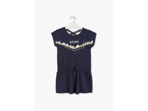 Šaty s flitrovou aplikací (Barva Modrá, Velikost 134/140)