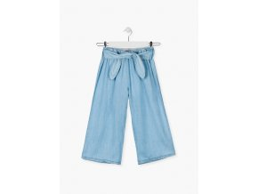 Módní kalhoty s vázačkou (Barva Modrá, Velikost 134/140)