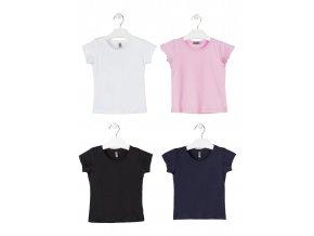 Jednobarevné tričko krátký rukáv (Barva Bílá, Velikost 134/140)