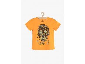 Tričko krátký rukáv s aplikací (Barva Oranžová, Velikost 134)