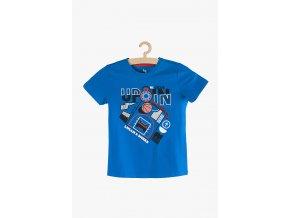 Tričko krátký rukáv s aplikací (Barva Modrá, Velikost 134)