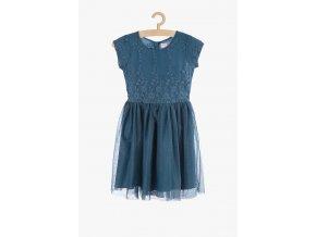 Šaty s výšivkou (Barva Modrá, Velikost 134)