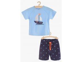 Chlapecké pyžamo krátký rukáv (Barva Modrá, Velikost 110/116)