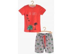 Chlapecké pyžamo krátký rukáv (Barva Červená, Velikost 110/116)
