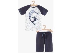 Chlapecké pyžamo krátký rukáv (Barva Modrá, Velikost 134/140)