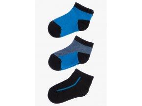 Ponožky - 3 páry v balení (Barva Modrá, Velikost 21/23)