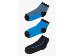 Ponožky - 3 páry v balení (Barva Modrá, Velikost 30/32)