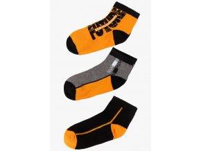 Ponožky - 3 páry v balení (Barva Oranžová, Velikost 30/32)