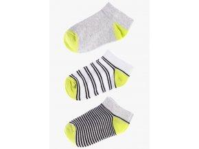Krátké ponožky - 3 páry v balení (Barva Šedá, Velikost 30/32)