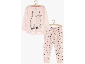 Dívčí pyžamo dlouhý rukáv (Barva Růžová, Velikost 110/116)