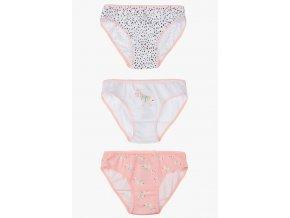 Kalhotky s potiskem - 3 kusy v balení (Barva Růžová, Velikost 110/116)