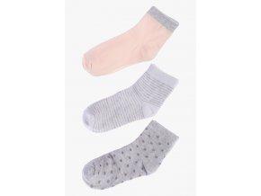 Ponožky - 3 páry v balení (Barva Šedá, Velikost 30/32)