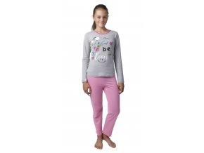 Dívčí pyžamo dlouhý rukáv (Barva Růžová, Velikost 140)