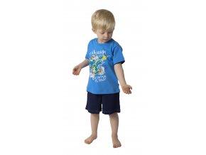 Chlapecké pyžamo krátký rukáv (Barva Modrá, Velikost 98/104)
