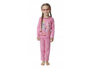 Dívčí pyžamo dlouhý rukáv (Barva Růžová, Velikost 110)