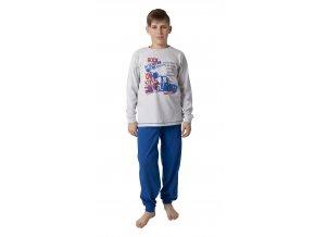 Chlapecké pyžamo dlouhý rukáv (Barva Modrá, Velikost 146/152)