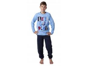 Chlapecké pyžamo dlouhý rukáv (Barva Modrá, Velikost 140)