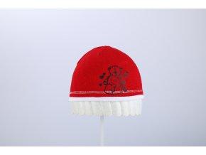 Čepice jaro & podzim s potiskem (Barva Červená, Velikost 48/50)