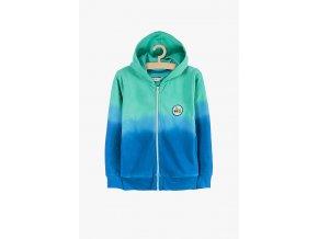 Mikina na zip (Barva Zelená, Velikost 104)