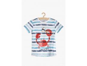 Chlapecké proužkované tričko s potiskem (Barva Mix barev, Velikost 104)