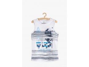 Tričko bez rukávů s potiskem (Barva Bílá, Velikost 134)