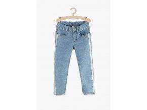 Dívčí džíny s pruhem (Barva Modrá, Velikost 134)