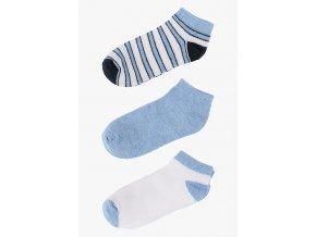 Krátké ponožky - 3 páry v balení (Barva Modrá, Velikost 21/23)