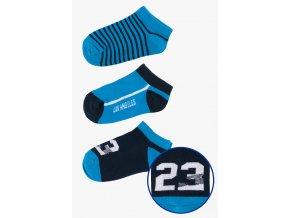 Krátké ponožky - 3 páry v balení (Barva Modrá, Velikost 30/32)