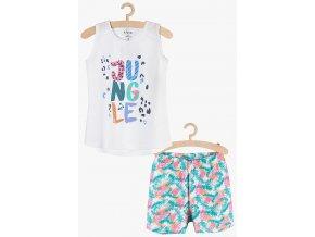 Dívčí pyžamo bez rukávů a krátké nohavice (Barva Mix barev, Velikost 134/140)