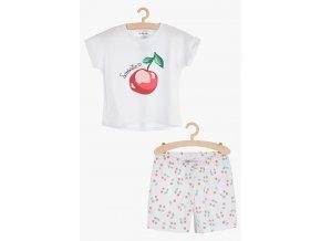 Dívčí pyžamo krátký rukáv (Barva Bílá, Velikost 134/140)
