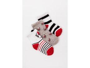 Ponožky - 3 páry v balení (Barva Mix barev, Velikost 15/17)