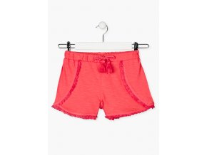 Dívčí šortky s ozdobnou šňůrkou (Barva Růžová, Velikost 134/140)