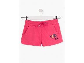 Dívčí šortky s flitrovou aplikací (Barva Růžová, Velikost 134/140)