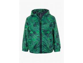 Chlapecká lehká bunda s kapucí (větrovka) (Barva Zelená, Velikost 92)
