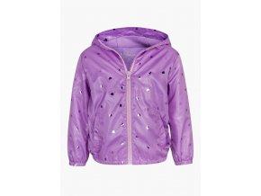 Dívčí lehká bunda s potiskem (větrovka) (Barva Fialová, Velikost 92)