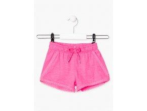 Dívčí jednobarevné šortky (Barva Růžová, Velikost 92)