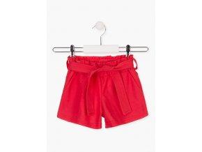 Dívčí šortky s vázačkou (Barva Červená, Velikost 92)