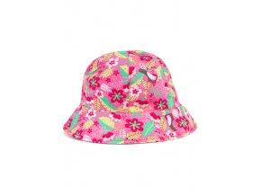 Lehký klobouček s potiskem (Barva Růžová, Velikost 92)