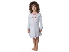 Noční košile dlouhý rukáv s jednorožcem (Barva Modrá, Velikost 110)