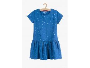 Letní šaty s rukávkem (Barva Modrá, Velikost 104)