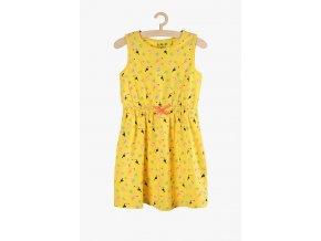 Letní šaty s potiskem (Barva Žlutá, Velikost 104)
