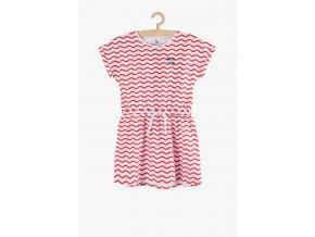 Letní šaty s potiskem (Barva Červená, Velikost 134)