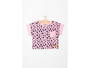 Tričko krátký rukáv do pasu s kapsičkou (Barva Růžová, Velikost 134)