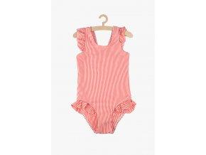 Dívčí plavky jednodílné (Barva Červená, Velikost 110/116)