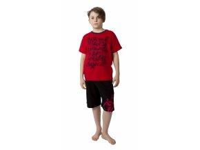 Chlapecké tričko krátký rukáv s potiskem (Barva Červená, Velikost 146/152)