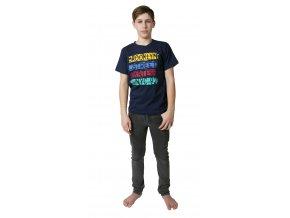 Chlapecké tričko krátký rukáv s potiskem (Barva Modrá, Velikost 140)