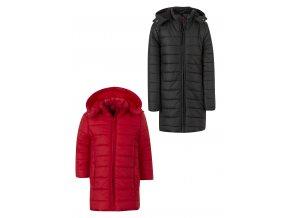 Dívčí delší bunda s odepínací kapucí (různé barvy)