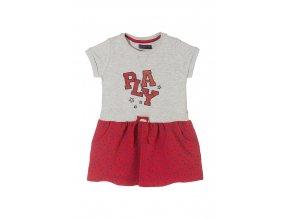 Dívčí šaty krátký rukáv s aplikací