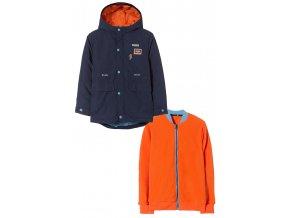 Chlapecká zimní delší bunda 2v1 (bunda a mikina)